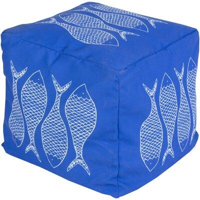 Chattahoochee Pouf Ottoman Upholstery: Cobalt