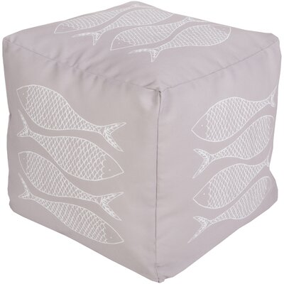 Christiansburg Pouf Ottoman Upholstery: Light Gray