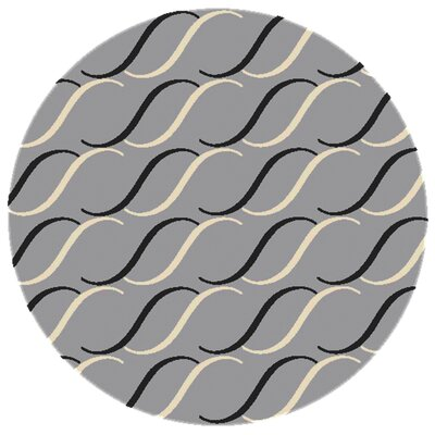 Cantonment Hand Hooked Gray Indoor/Outdoor Area Rug Rug Size: Round 8
