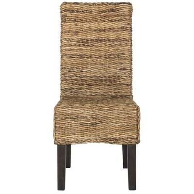 Treasure Island Solid Wood Dining Chair Upholstery: Natural
