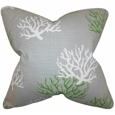 Tamarac 100% Cotton Throw Pillow Color: Gray Green, Size: 18 H x 18 W