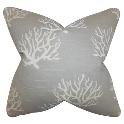 Tamarac 100% Cotton Throw Pillow Color: Gray, Size: 22 x 22
