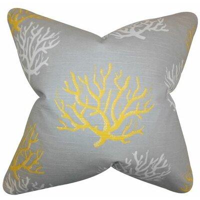 Tamarac 100% Cotton Throw Pillow Color: Yellow, Size: 20 H x 20 W