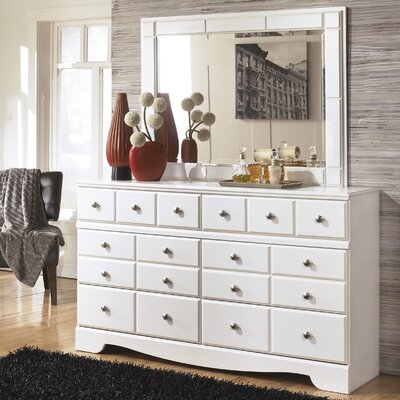 Carrabassett 6 Drawer Double Dresser with Mirror