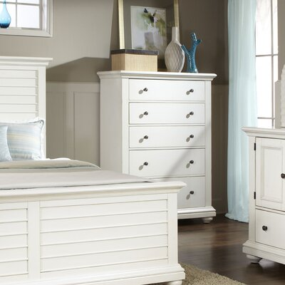 Woodminster 5 Drawer Chest Finish: Antique White