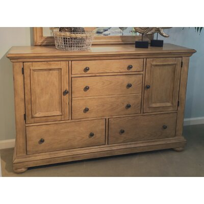 Galsworthy 5 Drawer Combo Dresser Color: Sandstone