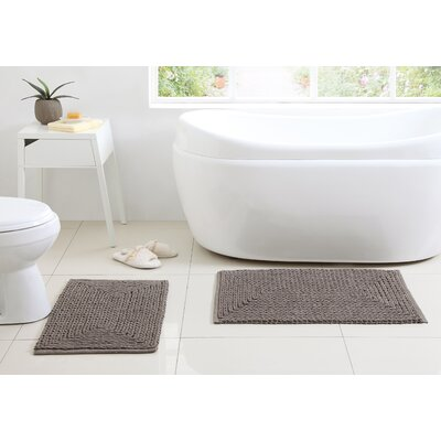 Munsch Chenille Bath Rug Color: Taupe