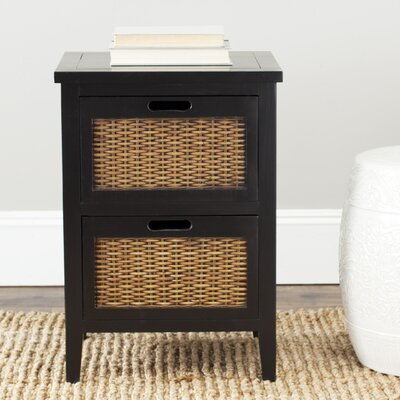 St. Leo 2 Drawer Nightstand Finish: Black