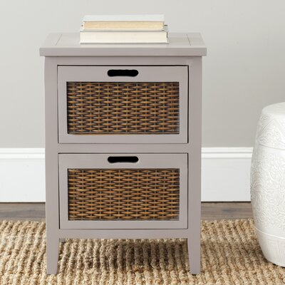 St. Leo 2 Drawer Nightstand Color: Grey