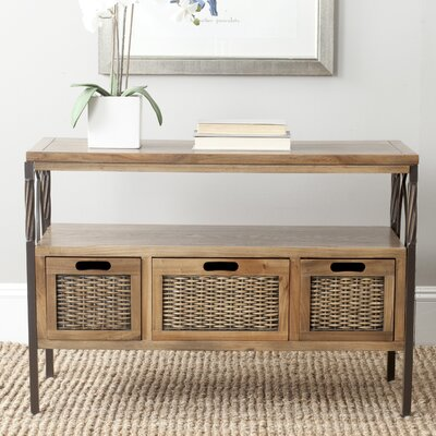 Swansea Console Table Color: Antiuque Pewter