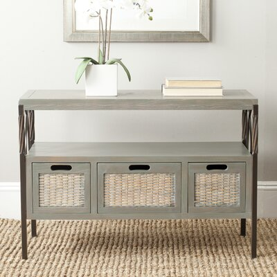 Swansea Console Table Color: French Grey