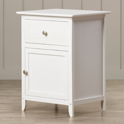 Gallinas 1 Drawer Nightstand Finish: White