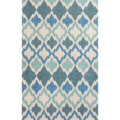 McLellen Hand-Woven Blue/Ivory Indoor/Outdoor Area Rug Rug Size: 5 x 76