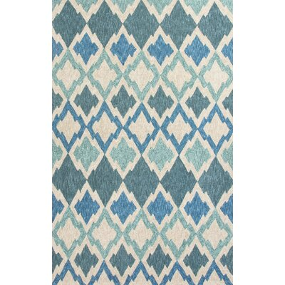 Whittington Hand-Woven Blue/Ivory Indoor/Outdoor Area Rug Rug Size: 76 x 96