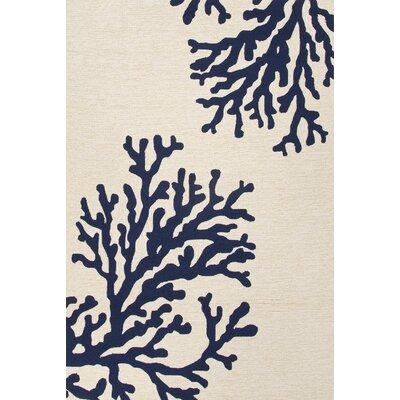 Horizon West Hand-Woven Ivory Indoor/Outdoor Area Rug Rug Size: 76 x 96