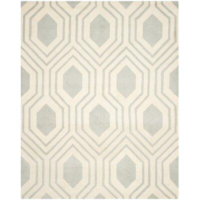 Aula Hand-Tufted Grey/Ivory Area Rug Rug Size: 8 x 10