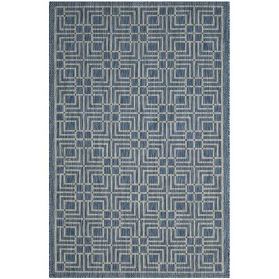 Romola Navy/Grey Area Rug Rug Size: 8 x 11