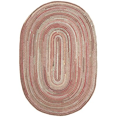 Arria Hand-Woven Natural Area Rug Rug Size: Oval 6 x 9