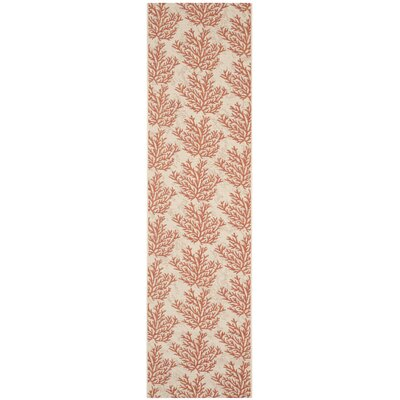 Inverness Highlands Beige & Terracotta Area Rug Rug Size: Runner 23 x 8