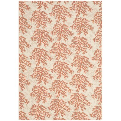 Inverness Highlands Beige & Terracotta Area Rug Rug Size: Rectangle 4 x 57