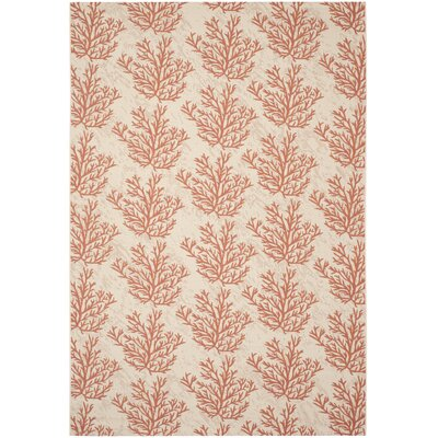 Inverness Highlands Beige & Terracotta Area Rug Rug Size: 53 x 77
