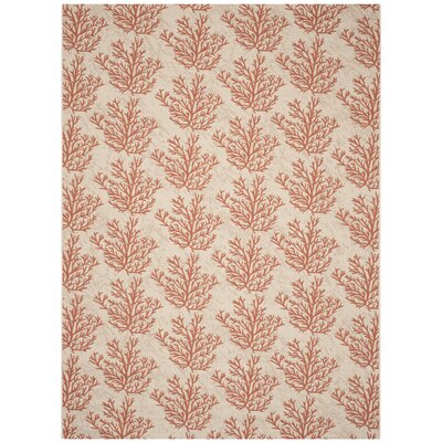 Inverness Highlands Beige & Terracotta Area Rug Rug Size: Rectangle 9 x 12