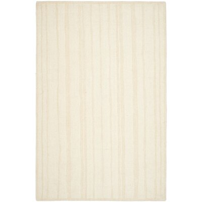 Freehand Stripe Hand-Loomed Fossil Area Rug Rug Size: 8 x 10