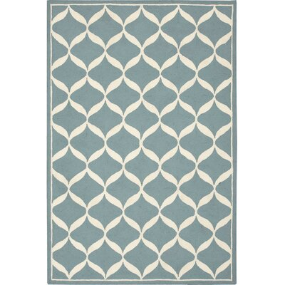 Sidonie Hand-Tufted Aqua Area Rug Rug Size: Rectangle 26 x 310