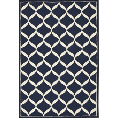 Sidonie Hand-Tufted Navy Area Rug Rug Size: Rectangle 26 x 310