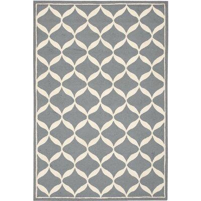 Sidonie Hand-Tufted Slate/White Area Rug Rug Size: 8 x 10
