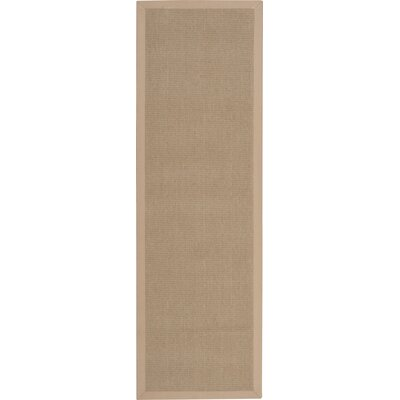 Wellington Sand Area Rug Rug Size: Runner 26 x 8