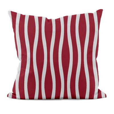 River Ridge Wavy Throw Pillow Color: Red, Size: 18 H x 18 W
