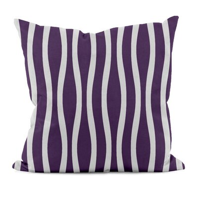 River Ridge Wavy Throw Pillow Size: 16 H x 16 W, Color: Purple