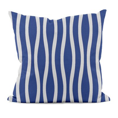 River Ridge Wavy Stripe Throw Pillow Size: 18
