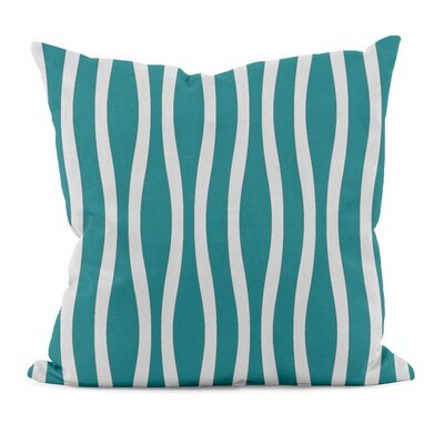 River Ridge Wavy Throw Pillow Size: 16 H x 16 W, Color: Lake Blue