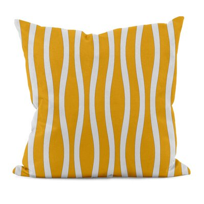 River Ridge Wavy Stripe Throw Pillow Size: 16 H x 16 W, Color: Celosia Orange