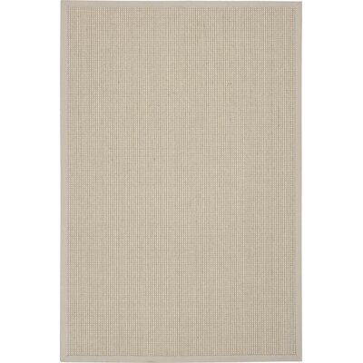 Melaina Hand-Woven Mist Area Rug Rug Size: Rectangle 4 x 6