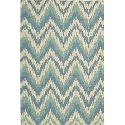 Poinciana Ivory/Blue Area Rug Rug Size: 53 x 75