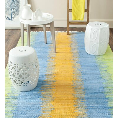 Ona Hand-Woven Cotton Area Rug Rug Size: Runner 23 x 9