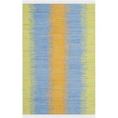 Ona Hand-Woven Green / Gold Area Rug Rug Size: 6 x 9