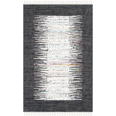 Ona Hand-Woven Ivory / Black Area Rug Rug Size: 9 x 12