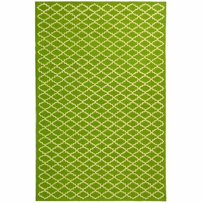 Fullerton Hand-Woven Cotton Olive/Ivory Area Rug Rug Size: Rectangle 79 X 99
