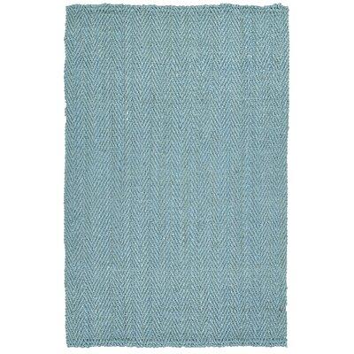 Pompano Beach Hand-Loomed Teal Area Rug Rug Size: 5 x 76
