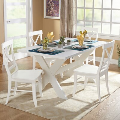 Hyannis 5 Piece Dining Set Finish: White