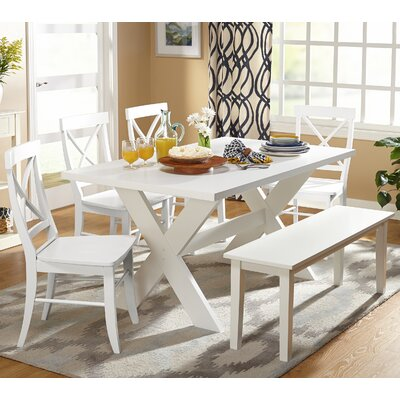 Medulla 6 Piece Dining Set Finish: White