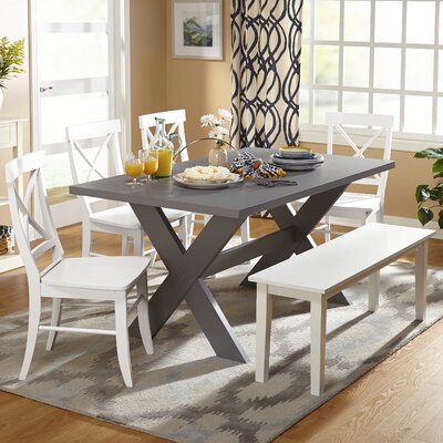 Medulla 6 Piece Dining Set Color: Grey/White