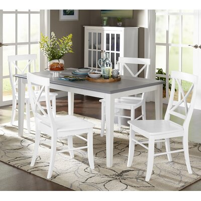 Lehigh Acres 5 Piece Dining Set Finish: White