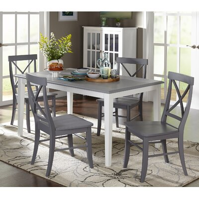 Lehigh Acres 5 Piece Dining Set Finish: Grey
