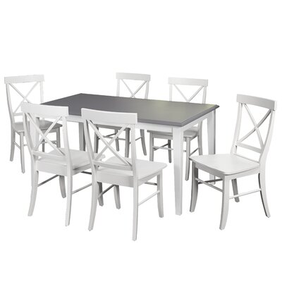Lehigh Acres 7 Piece Dining Set Finish: White
