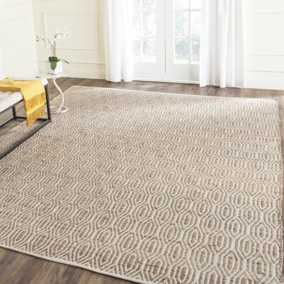 Gilchrist Hand-Woven Natural Area Rug Rug Size: 3 x 5